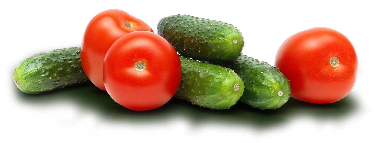 cucumbers nd tomatoes